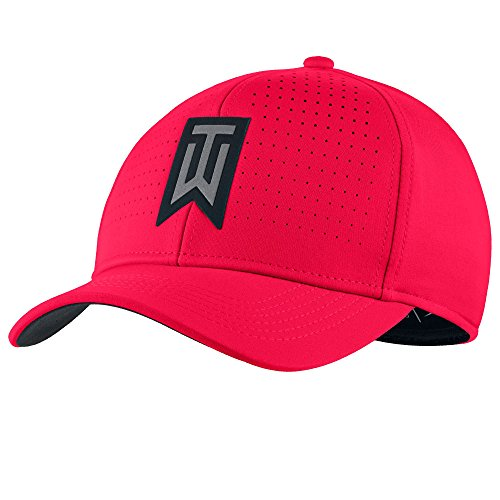 Tiger Woods Nike (Nike Tiger Woods Classic 99 Statement Golf Cap 2017 Siren Red/Anthracite/Black Large/X-Large)
