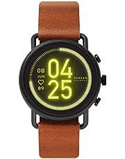 ساعة فالستر الذكية والرقمية للرجال مع مينا متعددة الالوان وسوار جلدي من سكاجين - SKT5201