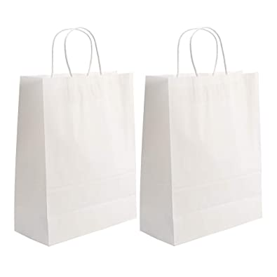 Toyvian 25pcs Kraft Bolsas de papel con asa Bolsas de la ...