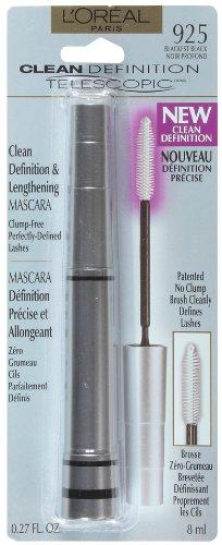 Loreal Telescopic Liner (L'Oreal Paris Telescopic Mascara Clean Definition, Blackest Black, 0.27-Fluid Ounce)