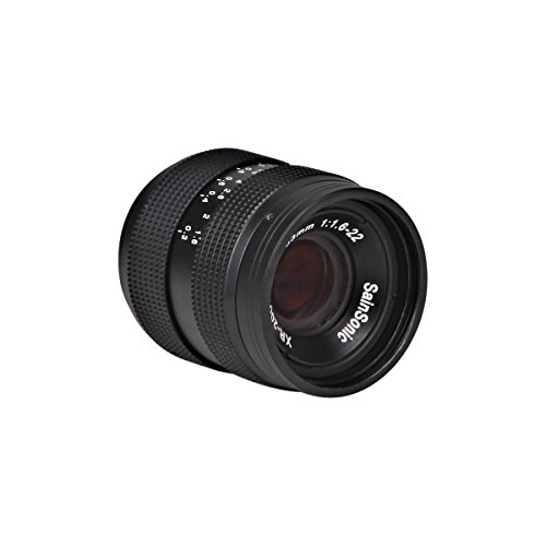 SainSonic XR-200 33mm F/1.6 C CCTV Len Black for GH1 GF1 NEX 3 5 E Mount