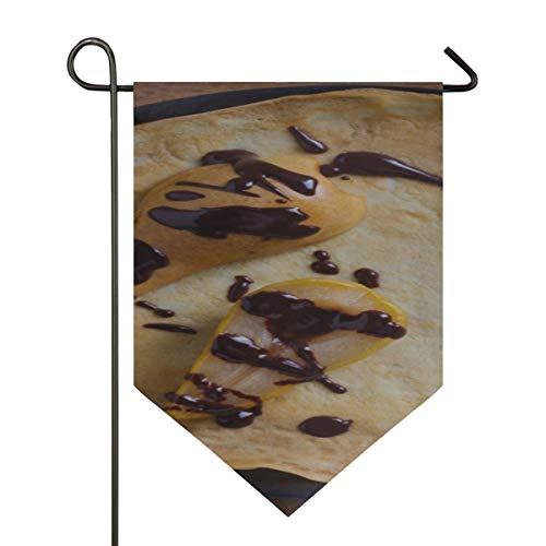 - Farmhouse House Flag Crepes Baked Pear Chocolate Thin Pancakes Decorative Double Sided Polyester 12 X 18.5 Inch Forest Garden Flag