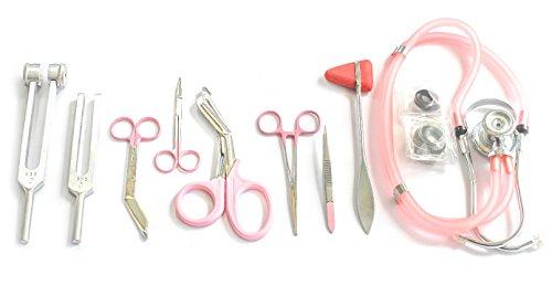 9-Piece-Medical-Diagnostic-Kit-in-Pink-Ideal-for-EMT-Nursing-Surgical-EMS-and-Medical-Student