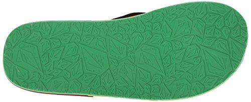 Volcom Victor Sandal - Chanclas Unisex adulto Varios colores (Mehrfarbig (RASTA RAT))