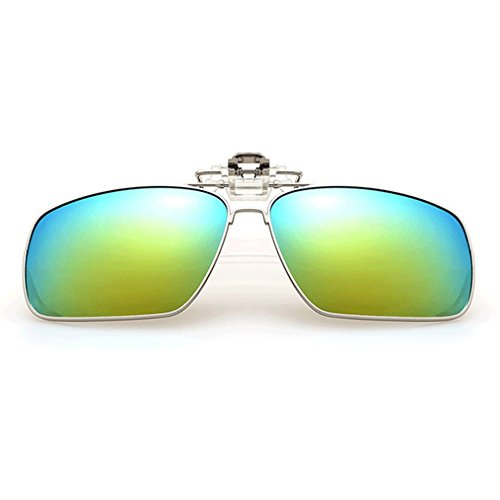 A-Royal Fashion Retro Square Myopia Polarized Clip-on Flip up Driving Fishing Sunglasses - Solar Wholesale X Sunglasses
