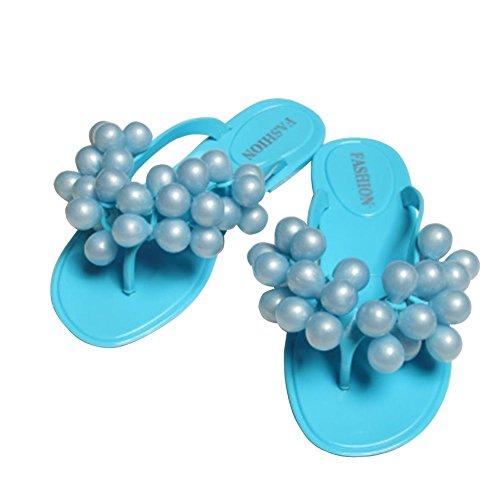 PET WITH ME Fashion Beach Slippers Women Grape Flip Flops Flat Sandals Peep-Toe Sandals Blue5 B(M) US Hot Sell.