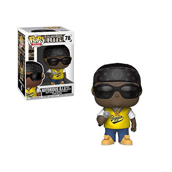 Funko Pop Rocks: Music - Notorious B.I.G. in Jersey Collectible Figure, Multicolor 1