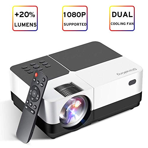 ness Mini LED Projector 1080P HD Supported 150