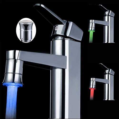 Centerset Lavatory Package - Guided Spigot Led Faucet Tap Water Filter - Led Brass Spontaneous Light Faucet Tap - Conducted Exploit Hydrant - 1PCs