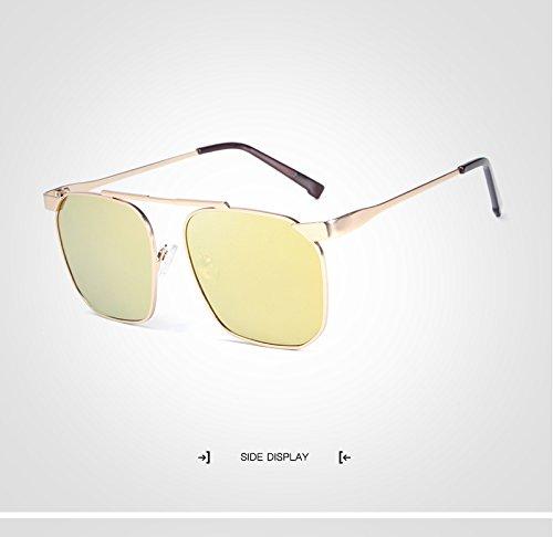 avec De Homme Rétro Femmes Gold Mode Étui Designer Lunettes Marque Cicongzai Oculos Lunettes Unisexe Femme Soleil Carré Lunettes Color Hommes Gold Polarisées 4fSxnqzO