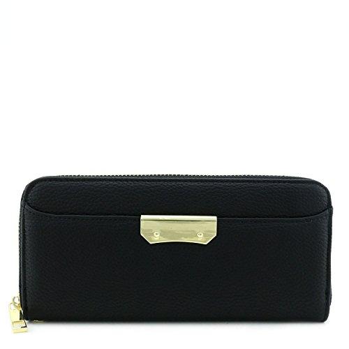 Zip Around Long Wallet (Black) - 7