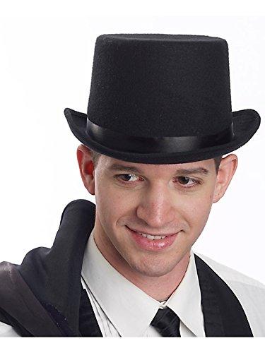 Forum Novelties Party Supplies Men's Super Deluxe Top Hat, Black, Standard - Deluxe Top Felt Black Hat