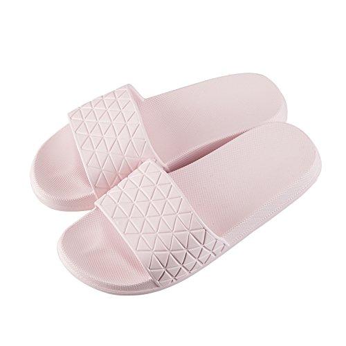 YMFIE Sandalias de Ducha Antideslizantes para Mujer, Suela de Espuma Suave para el hogar, Zapatillas de Piscina, Zapatos de Baño a
