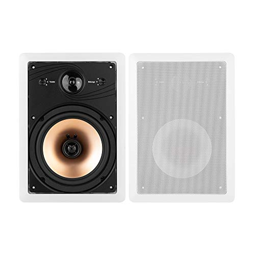 18' Professional Series Speakers - BIC America HT8W 8-Inch 3-Way Acoustech Series In-Wall Speakers, 1 Pair