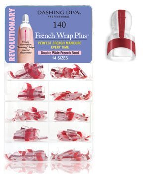 Dashing Diva French Wrap Plus, Thick Deep Red, 140 Count by Dashing Diva