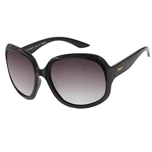 Duco Women's Oversized Polarized Sunglasses 100% UV Protection 3113 Black Frame Gray - Protection Sunglasses Uv With