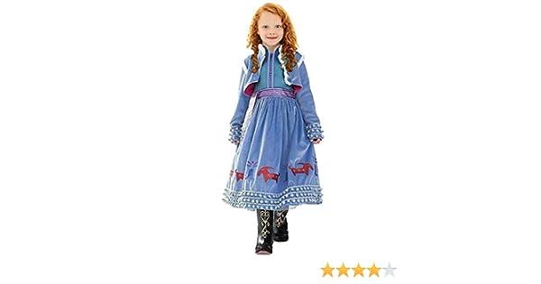 CIRAD Vestido Frozen Niñas Disfraz Anna Elsa (140 (7-8 años ...