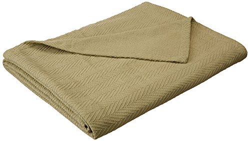 Superior 100% Cotton Thermal Blanket, Soft and Breathable Cotton for All Seasons, Bed Blanket and Oversized Throw Blanket with Metro Herringbone Weave Pattern - Full/Queen Size, ()