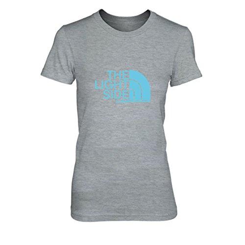 The Light Side - Damen T-Shirt, Größe: XL, Farbe: grau meliert