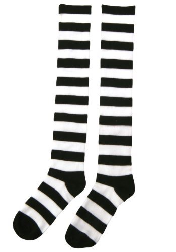 Fun Costumes mens Striped Witch Socks Standard (Wicked Witch Socks)