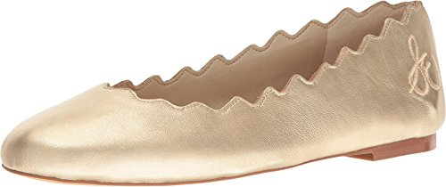 Sam Edelman Mujer Francis Ballet Flat Molten Gold Soft Metallic Sheep Leather