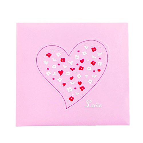 TYJY- PU Face Insert Family Albums, Pink Baby Photo Album, 600 Photos -6 '' (6x4 '' Photos) by PHOTO ALBUMS