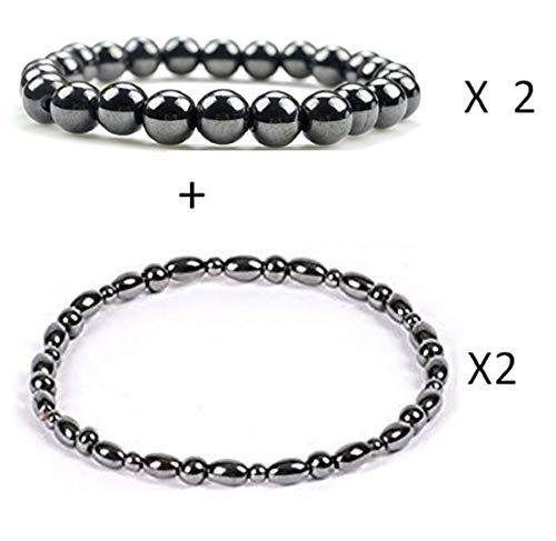 Dr. Kao 2 Pack Magnetic Therapy Anklet Bracelet Plus 2 Pack Magnetic Bracelet for Women Magnetic Bracelets t for Arthritis Pain Relief Magnets for Anxiety Relief for Carpel Tunnel
