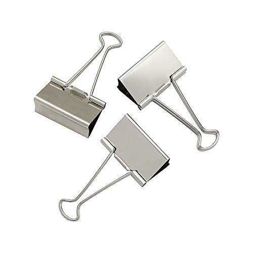 Staples 329502 Large Satin Silver Metal Binder Clips 2