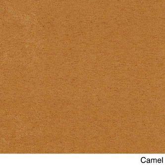 blazing needles solid microsuede tufted swivel rocker cushion camel color - Camel Color