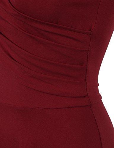 Laksmi-Elegant-Dresses-Womens-Casual-Dress-A-Line-Cap-Sleeve-V-Neck