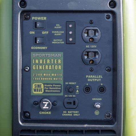Amazon Com Sportsman 2 200 Watt Gasoline Powered Recoil Start Portable Digital Inverter Generator With Parallel Capability Garden Outdoor