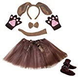 Petitebella Dog Headband Bowtie Tail Glove Shoes