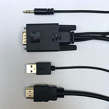 Cabling - Cable VGA a HDMI 1,8 m (Antiguo PC a TV/Monitor con HDMI ...