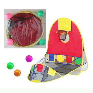 Lawn - Developmental Toys - Ball Pool Basketball Scoring Play Tent Hoe Kids Basket Tent Beach Lawn Indoor Outdoor Hoe Ball Beach Pool Tent - 1PCs (Collapsible Hoop Basketball)