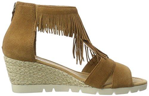 Gabor Shoes Comfort, Sandalias con Cuña Para Mujer Beige (camel Jute)