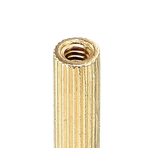 50pcs M2 15 3mm Male Thread Brass Round Spacer Screw Spacer Pillar PCB
