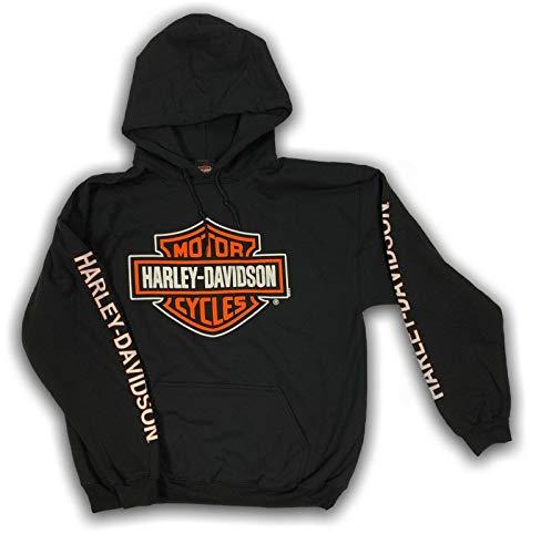 Harley-Davidson Men's Bar & Shield Logo Pullover Hooded Sweatshirt 30297503 (Large) Black