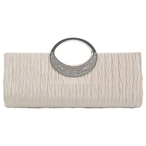 Diamante Bag Evening Top Handbag Bridal Glittery Fashion Handle Bag Women Wallet Clutch Purse Party Wocharm Ladies Wedding apricot wPRYEHxq