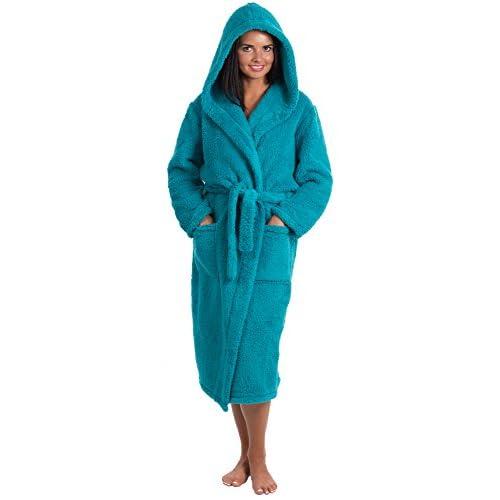 ed00df0fd2 VEAMI Women s Fleece Bathrobe with Hood well-wreapped - www.xm-tea.net