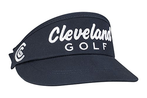 (Cleveland Golf Mens Performance Visor, Navy, One Size Fits All)