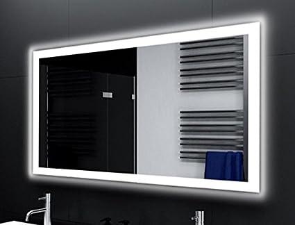 badspiegel designo ma4110 mit a led beleuchtung (b) 140 cm x (h) 70 cm made in germany technik 2019 badezimmerspiegel wandspiegel lichtspiegel  badezimmerspiegel moderne technik zeitloses design #9
