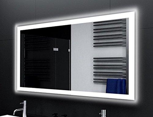 Badspiegel Designo MA4110 mit A++ LED Beleuchtung - (B) 90 cm x (H) 60 cm - Made in Germany - Technik 2019 Badezimmerspiegel Wandspiegel Lichtspiegel TIEFPREIS rundherum beleuchtet Bad Licht Spiegel