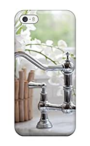 For Iphone 5/5s Fashion Design Traditional Nickel Faucet On Marble Countertop Case-TRqQsFK4593MjRBO