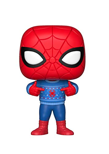 Funko Pop Marvel: Holiday - Spider-Man with Ugly Sweater Collectible Figure, -