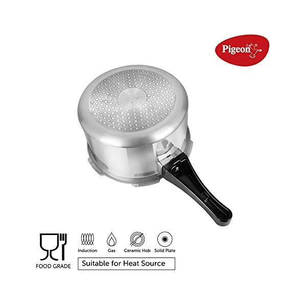 Pigeon-by-Stovekraft-12685-Induction-Base-Outer-Lid-Aluminium-Pressure-Cooker-Combo-With-Lid-2L-3L-5L-Silver