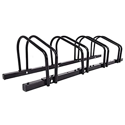 zwan 4 Bike Parking Garage Rack Storage Stand with Ebook