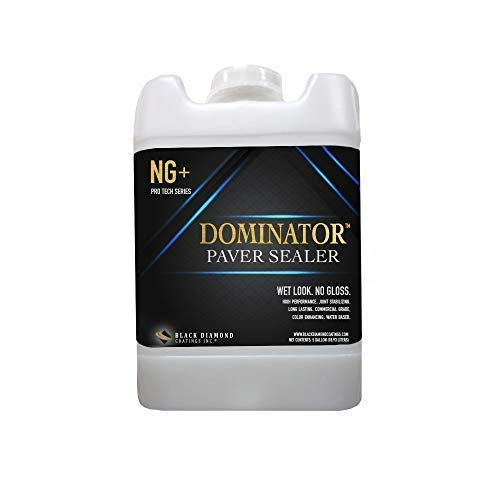 5 Gallon DOMINATOR NG+ Low Gloss Paver Sealer (Wet Look) - Contractors' Choice, Solvent Free (Paver Sealing Patio)