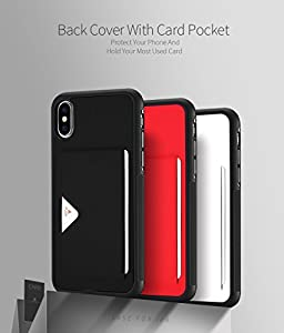 iPhone X / iPhone 10 Case, DUX DUCIS Ultra Slim Advanced Slip Resistant / Shock Resistant Protective Leather Back Cover with Card Slots for iPhone X / iPhone 10