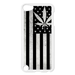 Generic Mobile Phone Cases Cover For Ipod Touch 5 case Country American Flag Marijuana Cannabis Weed Hemp Leaf Smoker Design Custom made Hard Snap on cell phones shell protect skin Kimberly Kurzendoerfer