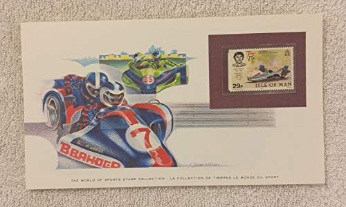 Sidecar Motorcycle Racing - The World of Sports - Postage Stamp & Commemorative Art Panel - Franklin Mint (1982) - Isle of Man (Franklin Cars Collectible Mint)